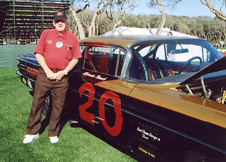 NASCAR legend Marvin Panch and his 1960 Pontiac. Marvin built this car as a replica to his 1961 Daytona 500 winner prepped by Smokey Yunick.